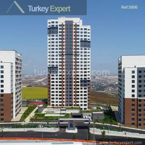 Apartments for sale in a large residential project in Istanbul Basaksehir
