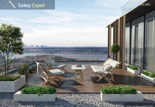Apartments for sale in Istanbul with Bosphorus view