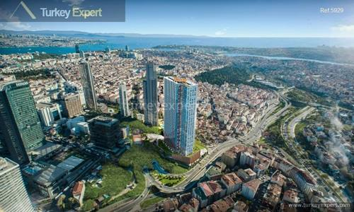 Live in the heart of Istanbul, luxury apartments for sale in Istanbul Bomonti