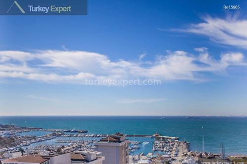 Breathtaking marina and sea view combined in this Kalamis apartment.