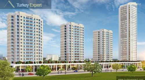 Newly built flats with interest free long term payment options near new Istanbul airport