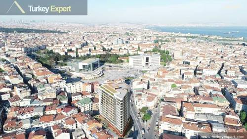 City center modern apartments with payment plans for sale in Istanbul Zeytinburnu