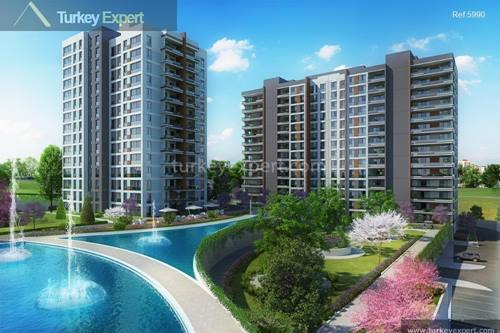 Apartments for sale in this family-oriented and  government-backed project near new Istanbul airport