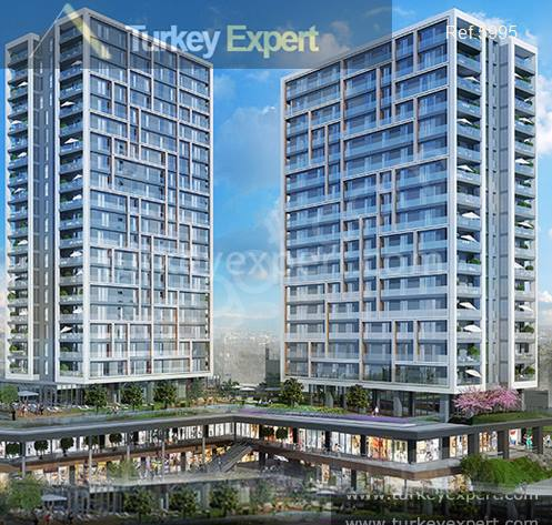 Apartments in a central location near Metro station for sale in Istanbul Basin Ekspress road