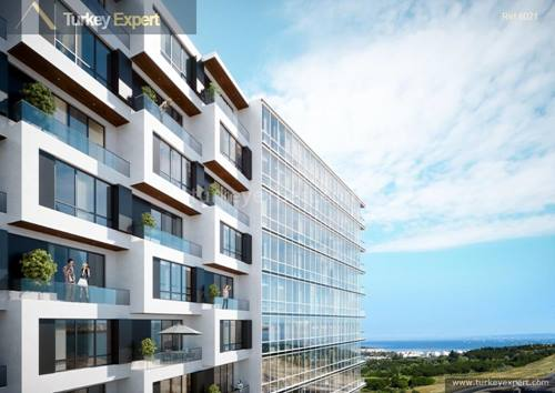 Sea-view apartments for sale in a modern project near Beylikduzu, Istanbul