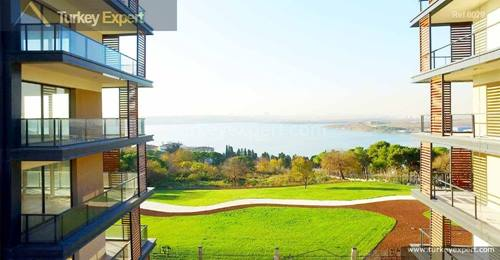 Amazing sea views apartments with ecological landscape architecture for sale in Istanbul Kucukcekmece