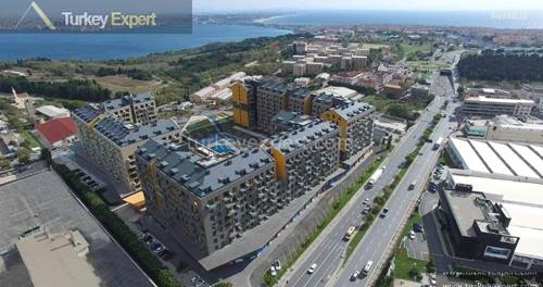 Modern apartment development in Istanbul Avcilar, high technology, smart houses