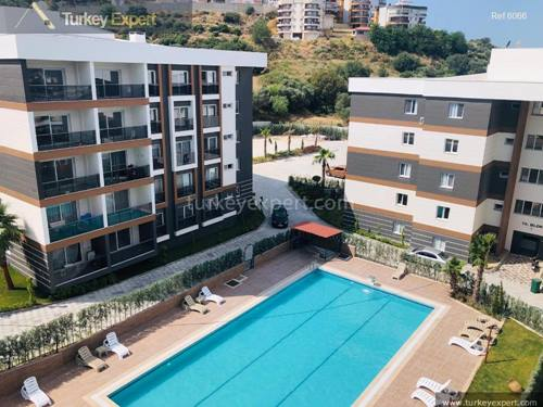 New apartments for sale in Kusadasi with  pool, gym and parking