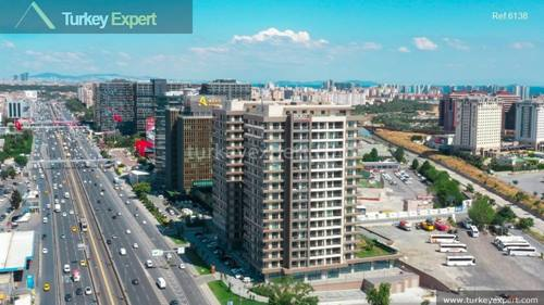 Completed apartments in Istanbul next to the airport ready to move in
