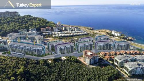 Sea view apartments in Alanya with facilities and close to the airport