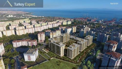 Seacoast city flats for sale in Beylikduzu Istanbul with panoramic views