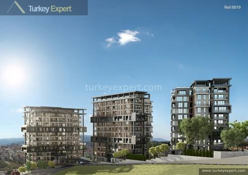 Peaceful apartments with forest views for sale in Istanbul Kagithane