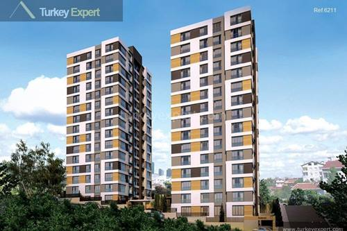 Modern apartments for sale in Istanbul Kagithane district near prestigious shopping malls