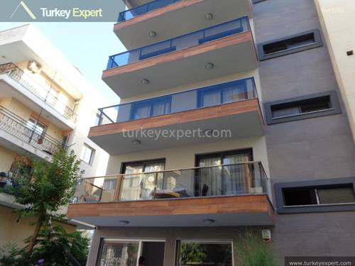 New, fully furnished residential apartment with private garden in Kusadasi center