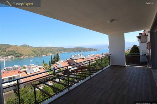 Penthouse apartment for sale in Fethiye with beautiful sea views near the town center