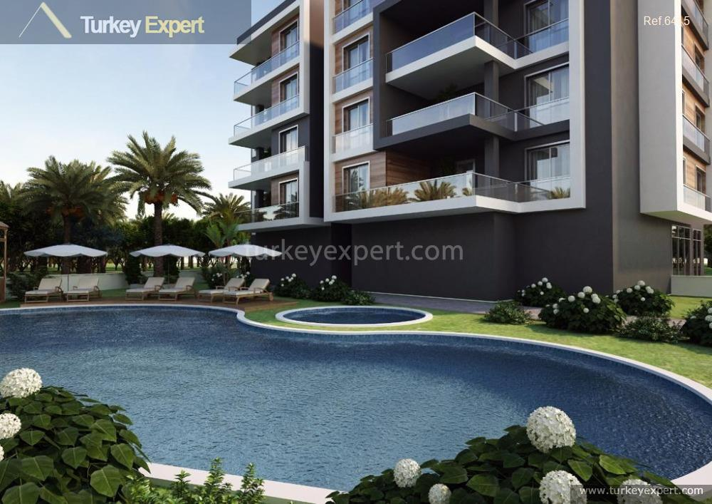 new development of apartments with16