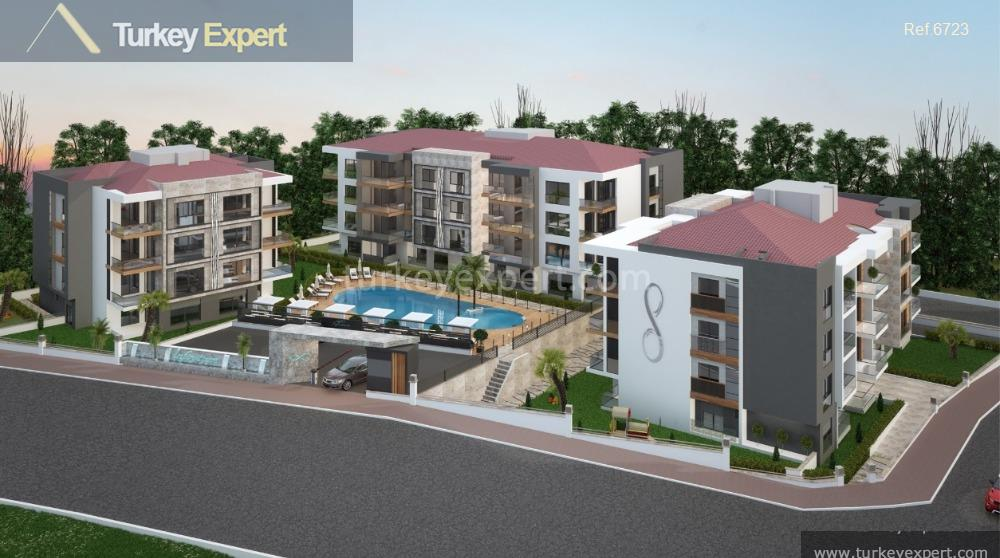 apartment project with pool and1