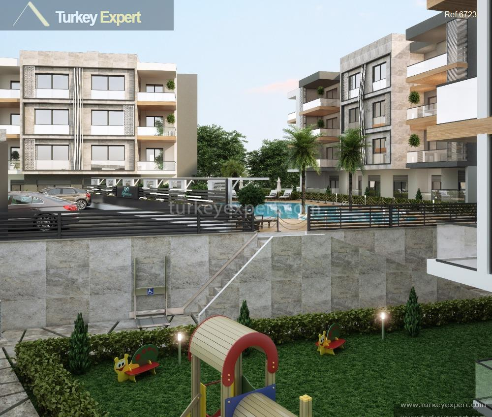 apartment project with pool and13