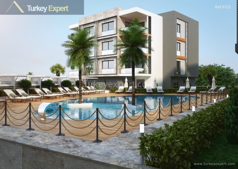 apartment project with pool and15