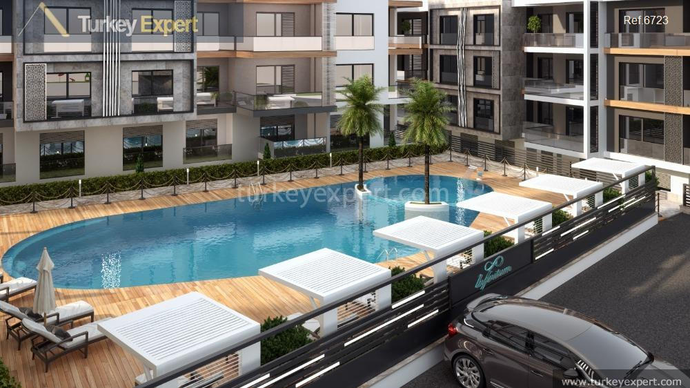apartment project with pool and16
