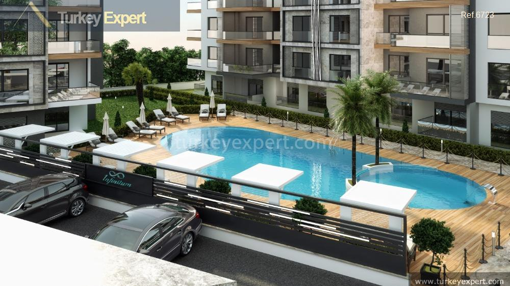 apartment project with pool and17