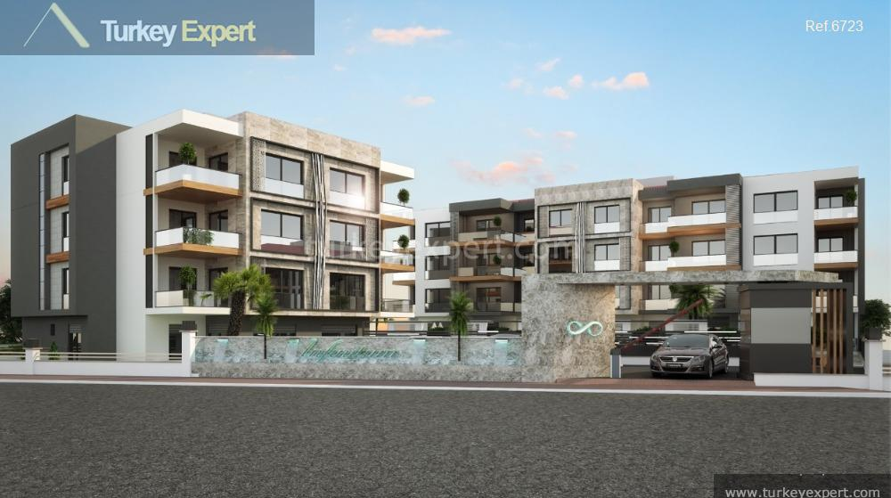 apartment project with pool and4
