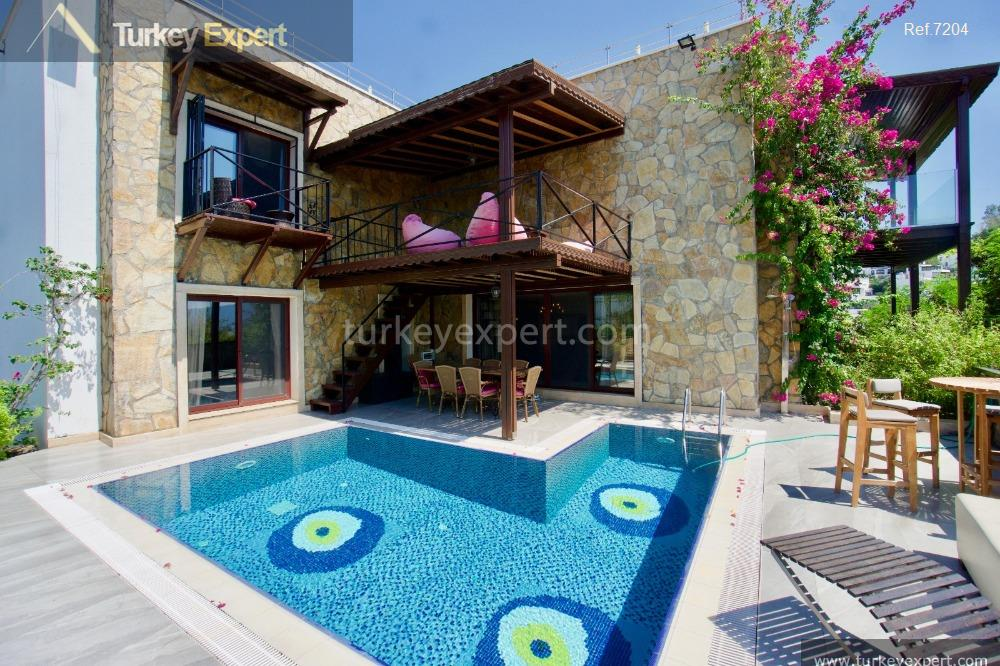 1independent bodrum villa with sea21