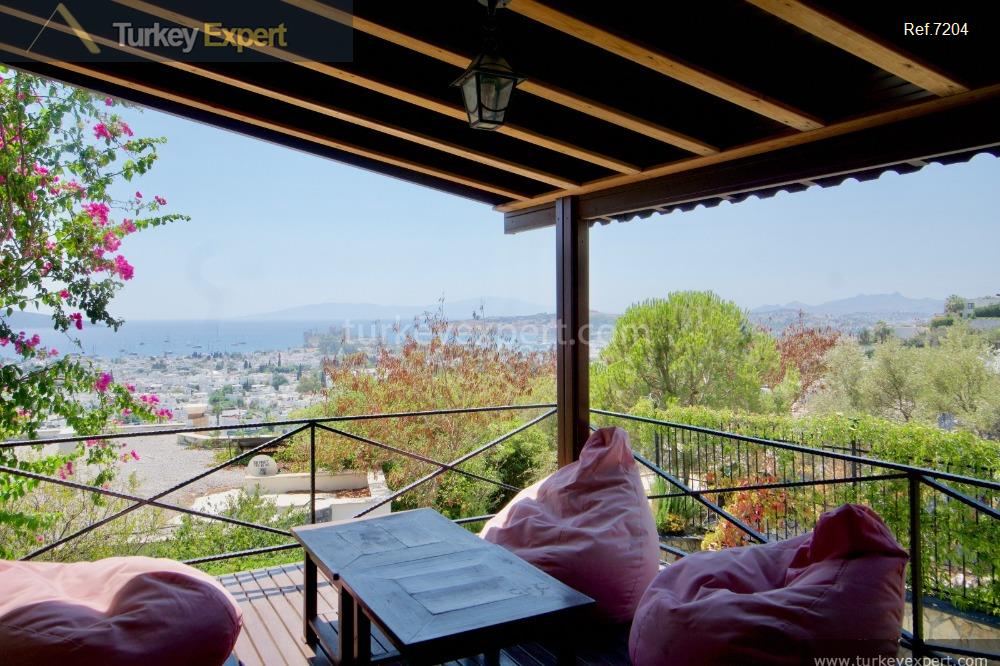 independent bodrum villa with sea14
