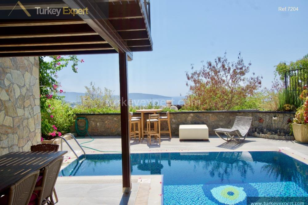 independent bodrum villa with sea4
