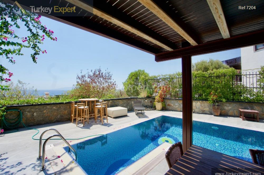 independent bodrum villa with sea8